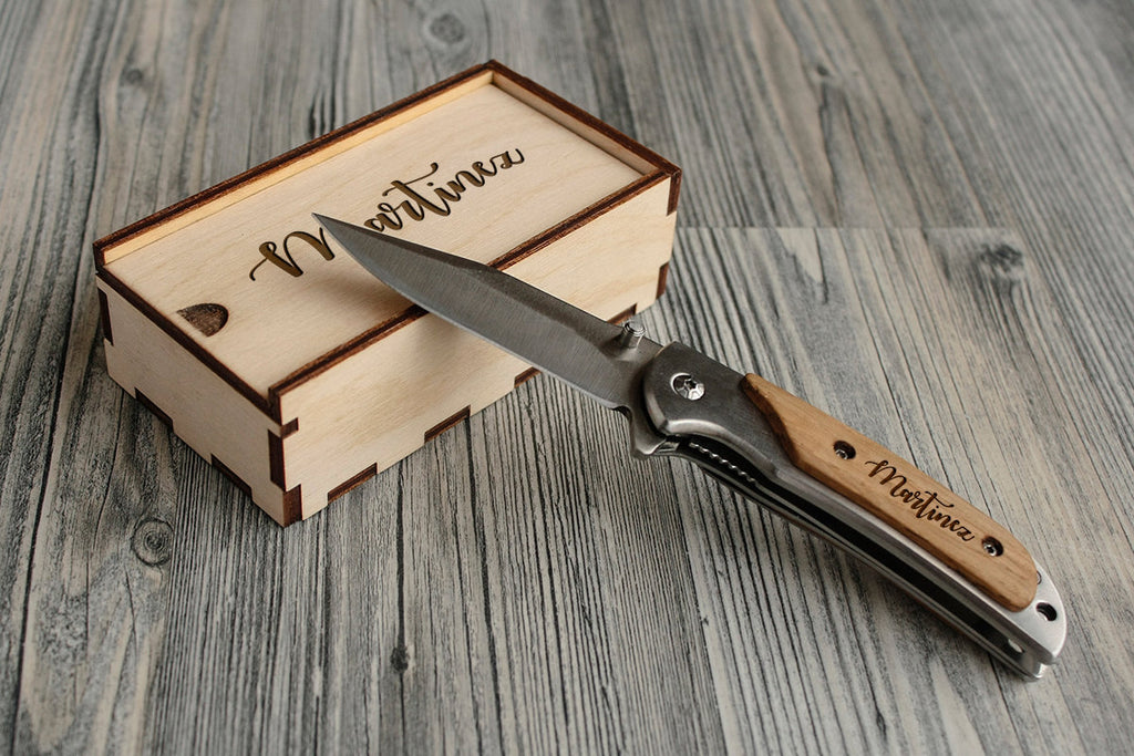 Father's Day Gift Engraved Knife Personalized Pocket Knife Gift for Him Custom Gift for Dad Gift for Men Folding Knife Personalized Gift Box