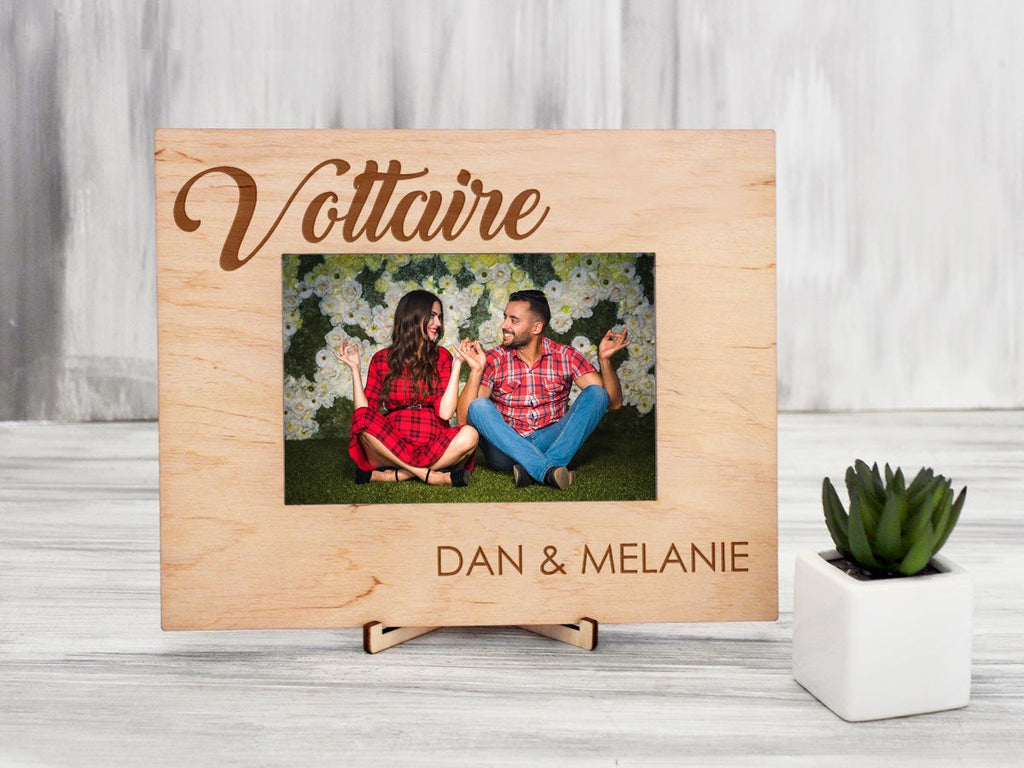 Personalized Photo Frame Housewarming Gift for Couple Rustic Home Decor Wood Frame Engraved Picture Frame Anniversary Gift Family Frame