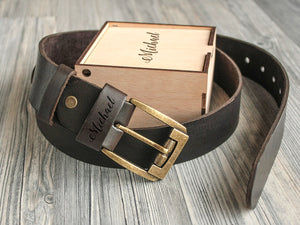 Personalized Gift for Him Leather Belt Groomsmen Gift Father's Day Christmas Gift Custom Engraved Belt Anniversary Gift for Him Gift for Dad
