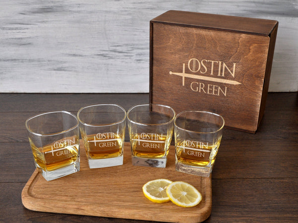 Personalized Gift for Dad Whiskey Decanter Set Whiskey Glasses Christmas Gift for Him Custom Whiskey Glasses Boyfriend Gift Fathers Day Gift