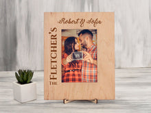 Load image into Gallery viewer, Rustic Picture Frame Wood Photo Frame Anniversary Gift for Couple Custom Frame Wedding Gift Christmas Family Gift Engraved Rustic Home Decor