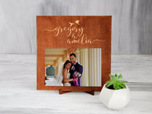 Load image into Gallery viewer, Wedding Clip Picture Frame Wood Photo Frame Sign Wedding Gift for Couple Mother of the Bride Gift Custom Frame Engagement Gift Rustic Frame