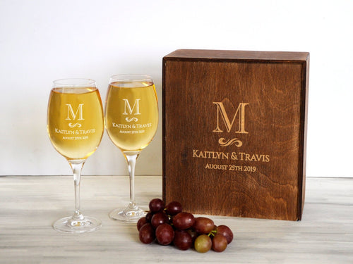 Toasting Glasses Christmas Couple Gift Wine Glasses Set Newlyweds Gift Engraved Wine Glasses Anniversary Gift for Couple Wedding Wine Glass