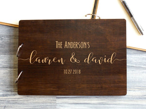Custom Wedding Guest Book Photo Wedding Guestbook Wooden Handmade Personalized Engraved Guest Book Unique Rustic Wedding Ideas Wedding Album