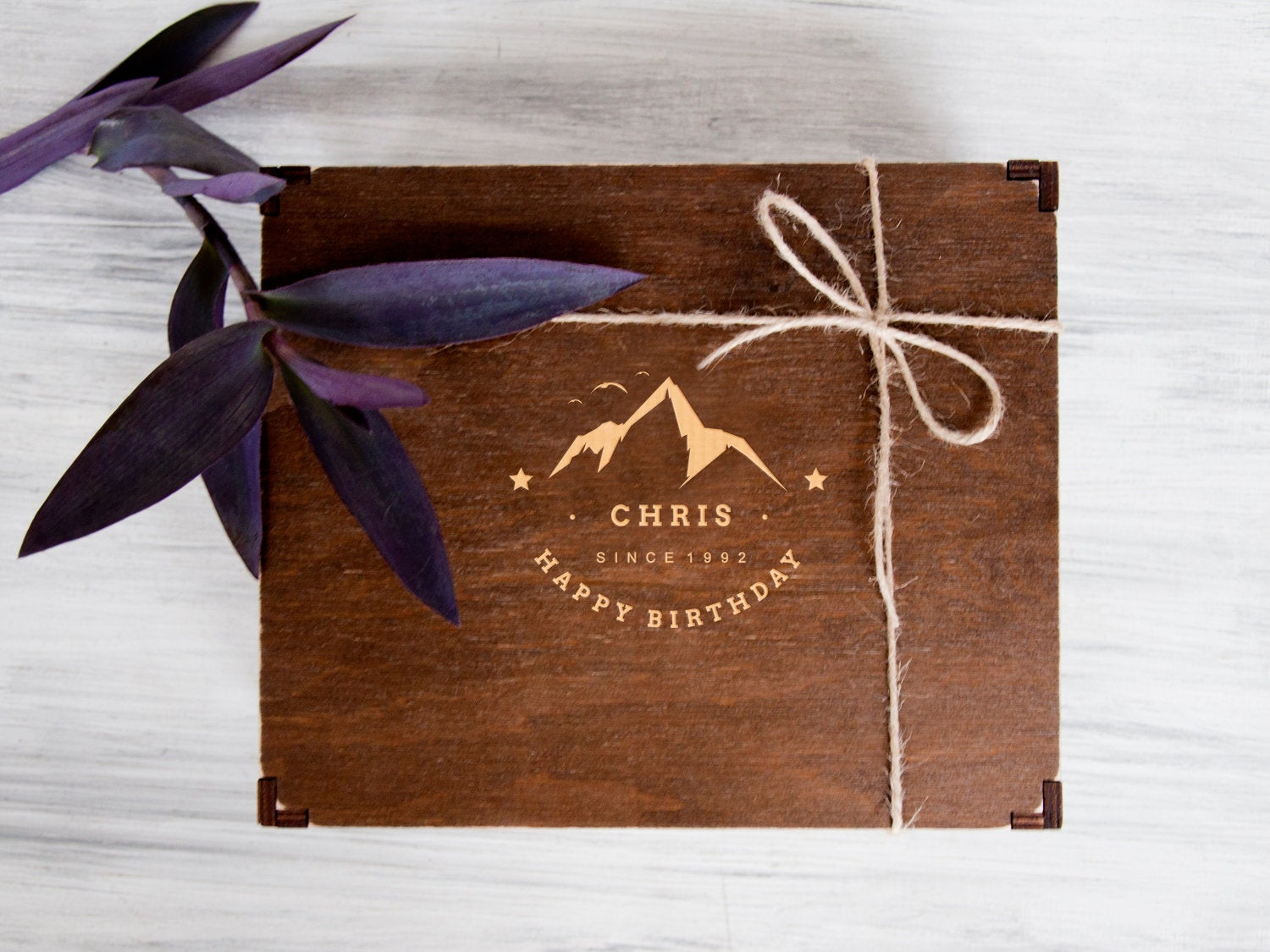Custom Gift Box Birthday Gift for Boyfriend Personalized Wooden Box Anniversary Gift for Husband Memory Box Gift Packaging Mens Gift Ideas
