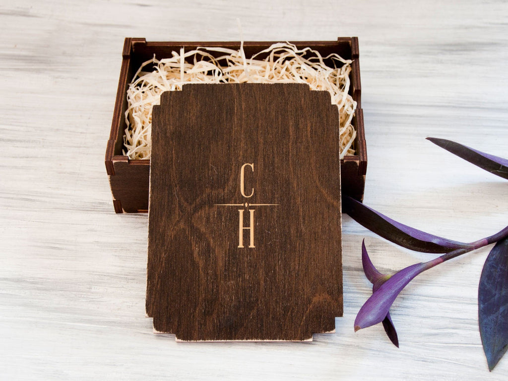 Personalized Gift Box Groomsmen Gift Box Wooden Keepsake Box Wedding Gift from Bride Custom Box Bridal Shower Gift Valentines Gift for Him
