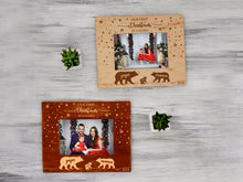 Load image into Gallery viewer, Christmas Frame Bear Family Gift Wooden Photo Frame First Christmas as Family Custom Picture Frame Engraved Wall Frame Winter Holidays Gift