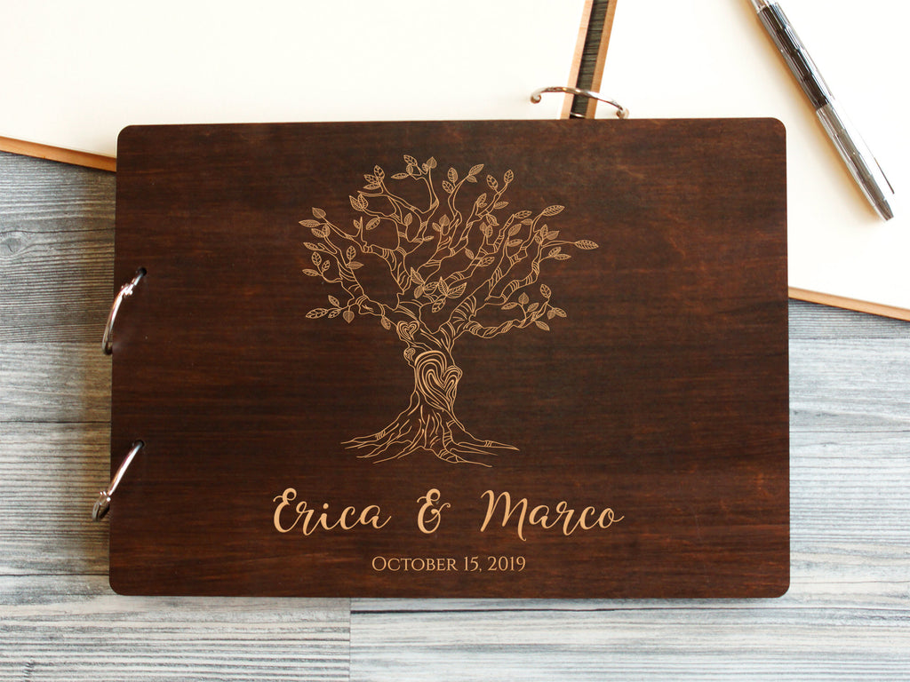 Rustic Wedding Guest Book Tree Personalized Wedding Guestbook Ideas Wedding Tree Guest Book Custom Guest Book Bridal Shower Gift Wedding