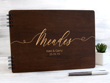 Load image into Gallery viewer, Rustic Wedding Guest Book Wood Guest Book Photobooth Guestbook Custom Engraved Guest Book Wooden Guest Book Personalized Wedding Photo Book