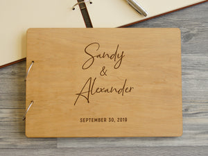 Custom Wedding Guest Book Personalized Wedding Guestbook Rustic Guest Book Wood Engraved Wedding Guest Book Unique Wedding Guest Book Ideas