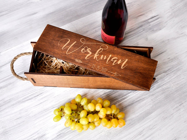 Wedding Wine Box, Valentines Gift, Wedding Wine Ceremony, Mens Valentines Gift, Wedding Box Ceremony, Gift for Couple, Shower Gift Wine Gift