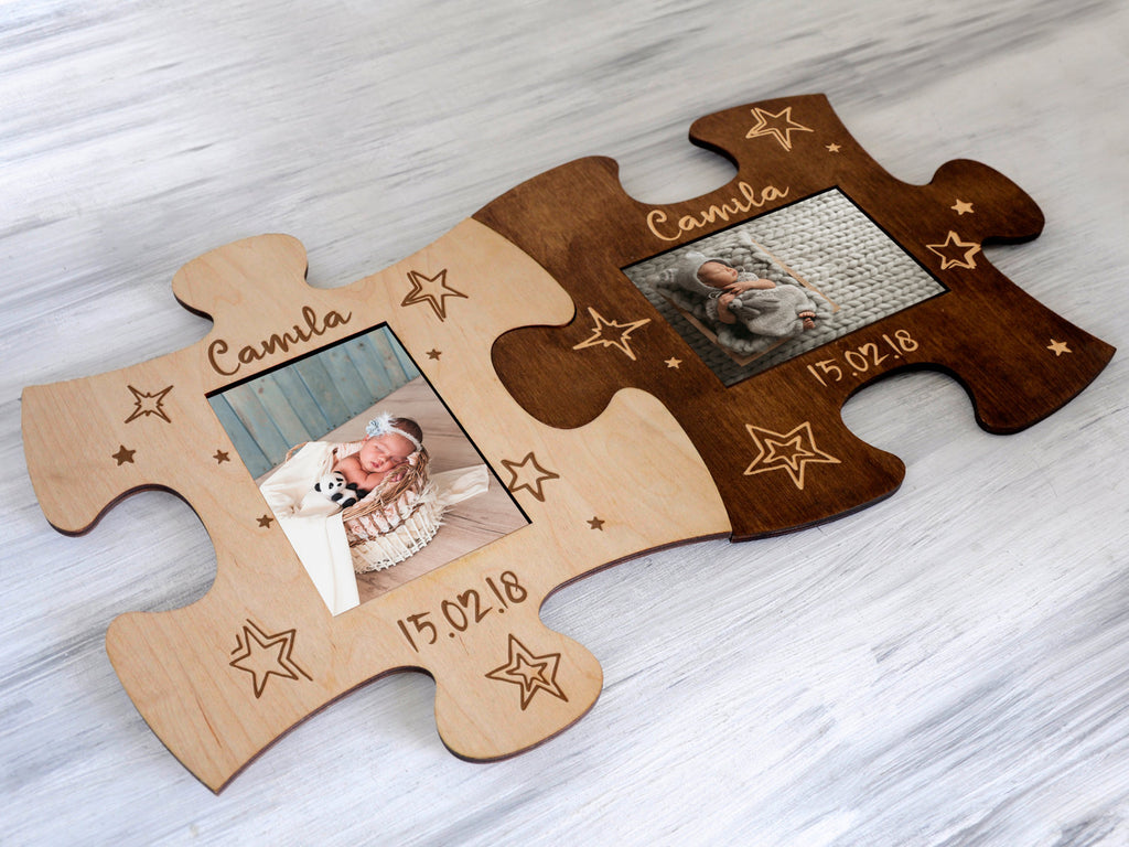 photos on wood personalised puzzle wooden puzzle xmas gift baby photo frame Family gift Picture on Wood Custom Photo Frame