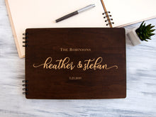Load image into Gallery viewer, Wedding Guest Book Custom Wedding Guestbook Rustic Wedding Decor Personalised Guest Book Wedding Shower Gift Wooden Guest Book Ideas Wedding