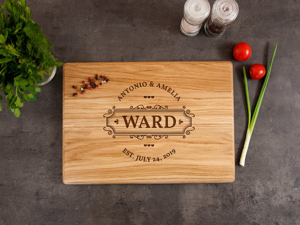 Personalized Cutting Board Engraved Chopping Board Wedding Gift Kitchen Board Housewarming Gift Bridal Shower Gift Custom Cutting Board