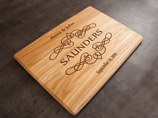 Personalized Cutting Board Wedding Gift Custom Cutting Boards Family Gift Wood Kitchen Board Chopping Board Home Decor Gift Engagement Gift