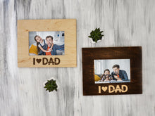 Load image into Gallery viewer, Dad Picture Frame I Love Dad Father's Day Gift from Son or Daughter Wood Photo Frame Gift for Dad Custom Frame 4x6, 5x7, 6x8 Best Dad Gift