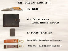Load image into Gallery viewer, Best Man Gift Groomsmen Gift Box Game of Thrones Gift Engraved Knife Personalized Wallet Zippo Lighter Custom Box Mens Gift Ideas Wooden Box
