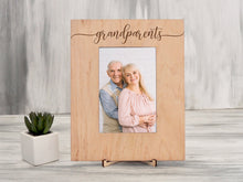 Load image into Gallery viewer, Grandparents Frame Family Gift for Grandma & Grandpa Handmade Custom Wood Picture Frame New Home Gift Engraved Photo Frame Housewarming Gift
