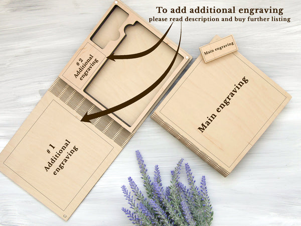 Rustic Wedding Photo Box Gift for Couple Wooden Photo Storage Box + Optional 16/32 Gb USB 3.0 Personalized Photo Box Wedding Photography