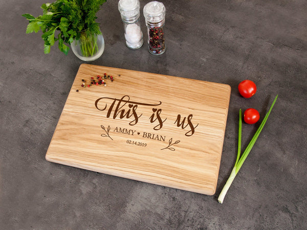Personalized Cutting Board This is Us Family Gift Custom Board Wedding Gift for Couple Foodie Gift Engagement or Anniversary Gift Home Decor