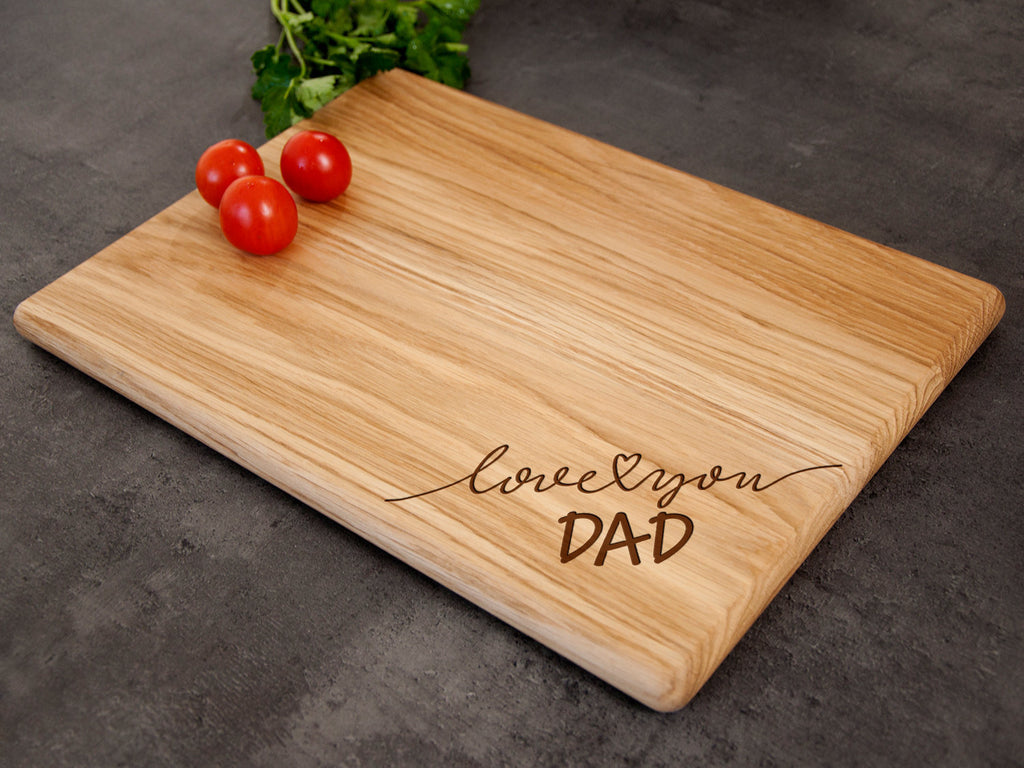 Wooden Cutting Board Fathers Day Gift from Daughter  Engraved Serving Board Kitchen Gift for Dad Custom Kitchen Board Best Dad Gift from Son