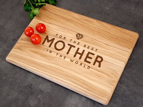 Personalized Cutting Board Gifts for Mom from Son Mothers Day Gift for the Best Mother in the World Mother Birthday Gift Mom Christmas Gift