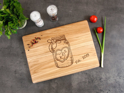 Custom Cutting Board Bridal Shower Gift Personalized Cutting Board Anniversary Gift for Couple Wedding Gift Wood Serving Kitchen Family Gift