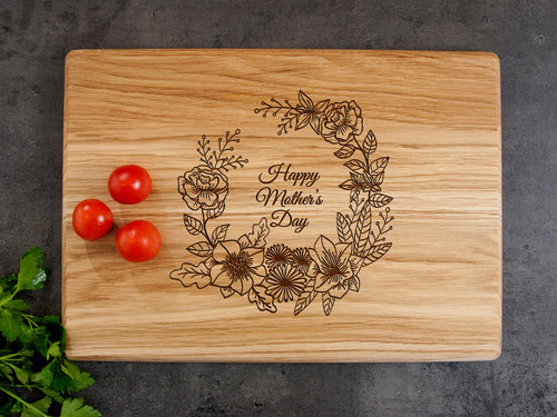 Happy Mother's Day Custom Cutting Board Nana Gift Engraved Cutting Board Personalized Gift for Mom Foodie Gift for Grandma from Grandson