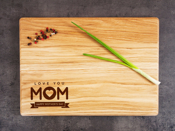 Happy Mothers Day Mom Cutting Board Personalized Gift for Mom Birthday Engraved Custom Cutting Board Kitchen Decor Mother Day Gift for Women