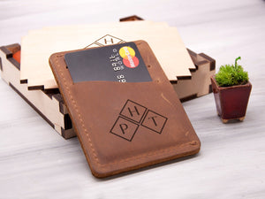 Personalized Leather Card Holder Wallet Fathers Day Gift Men Credit Card Holder Birthday Gift for Him Custom Leather Card Wallet Mens Gift