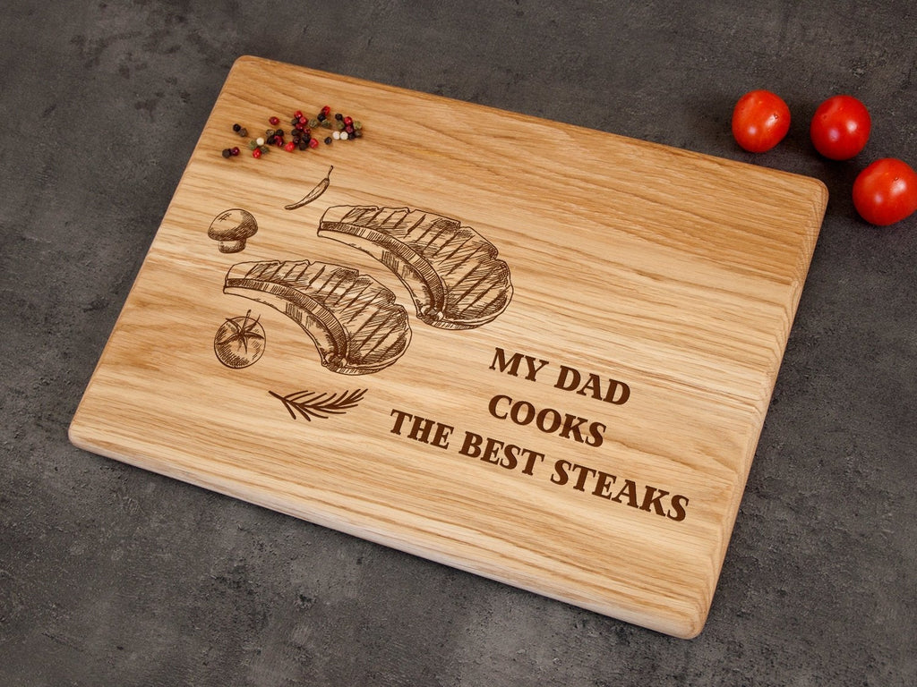 Custom Board Fathers Day Gift Best Dad Gift Engraved Cutting Board Personalized GIft for Dad's Birthday Gift Kitchen Decor Retirement Gift