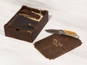 Best Man Gift Groomsmen Gift Box Game of Thrones Gift Engraved Knife Personalized Wallet Zippo Lighter Custom Box Mens Gift Ideas Wooden Box