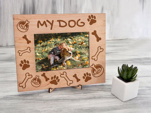 Personalized Photo Frame My Dog Picture Frame Pet Lovers Gift for Daughter Sympathy Frame Pet Loss Gift Dog Memorial Gift 4x6 Photo Frame