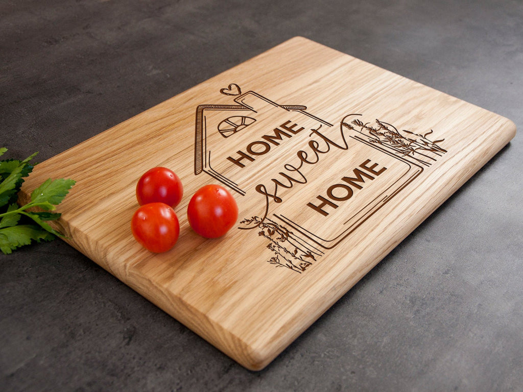 Personalized Cutting Board Home Sweet Home Realtor Gift Kitchen Board Housewarming Gift Serving Board New Home Gift for Her First Home Gift