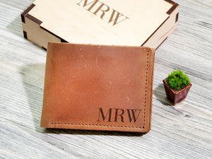 Groomsmen Gift Personalized Leather Gift Mens Wallet Custom Fathers Day Gift Leather Wallet Anniversary Gifts for Men Wedding Gift Groom