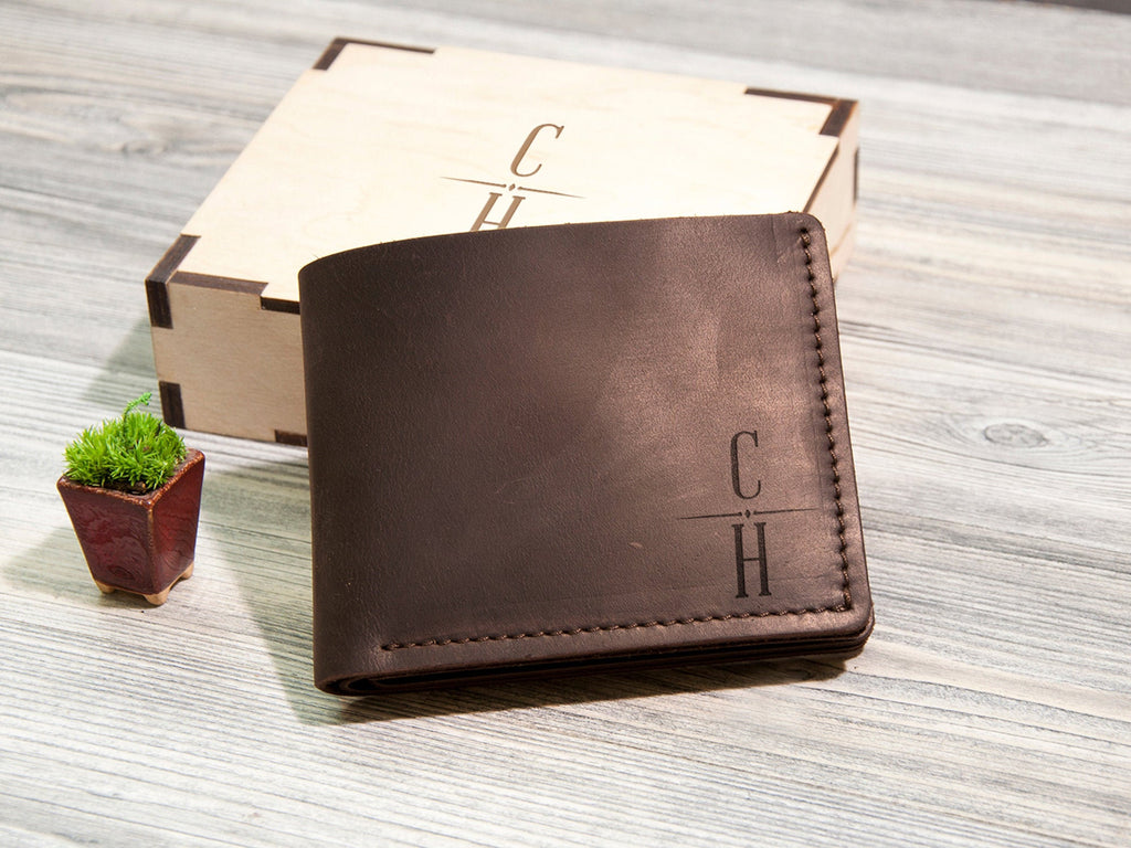Personalized Mens Wallet Personalized Gift for Men Mens Leather Wallet Father's Day Gift Christmas Gift for Dad Groomsmen Gift Mens Wallet
