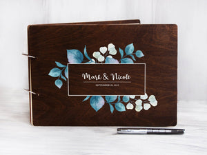 Wedding Guest Book Rustic Handmade Guestbook Unique Bride Groom Guest Book Personalized Wedding Album Newlywed Wedding Book Custom Guestbook