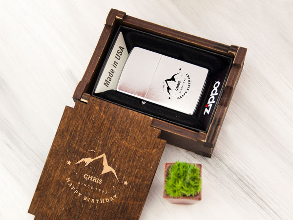Personalized Zippo Lighter Groomsmen Gift Box Wedding Gift Best Man Gift Engraved Gold Lighter Wedding Usher Gifts Groomsman Gifts for Men