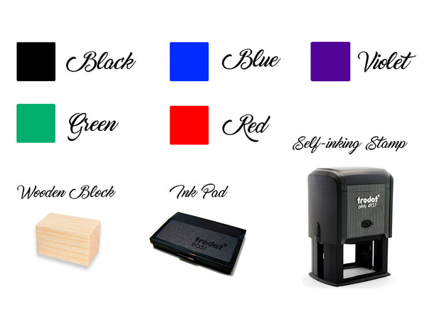 Thank You Stamp Custom Wedding Stamp Thank You Print Personalized Self Inking Stamp Wedding Stationary Gift for bride Rubber Stamp
