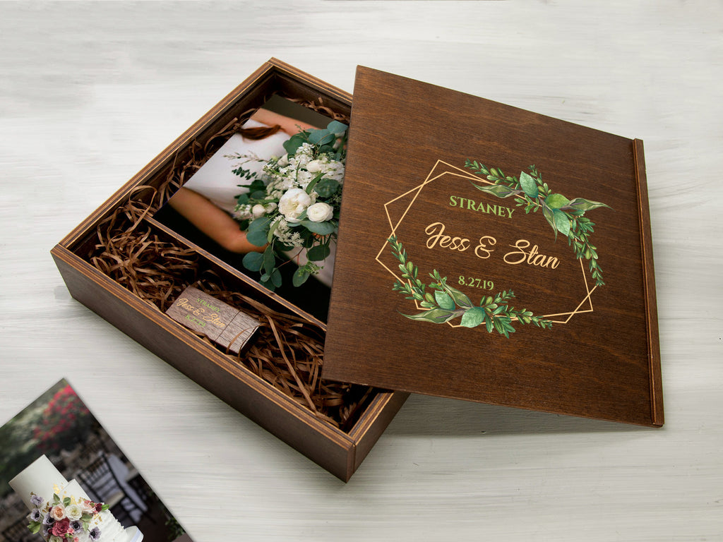 Mother of the Bride Gift Wood Photo Storage Box Personalized Wedding Gift Custom Photo Box Engagement Gift Wedding Photo Box Modern Wedding
