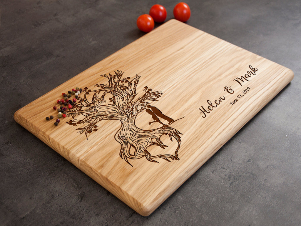 Custom Wedding Gift Wooden Cutting Board Personalized Wedding Decor Engagement Gift Cheese Board Wedding Shower Gift Engraved Wood Board
