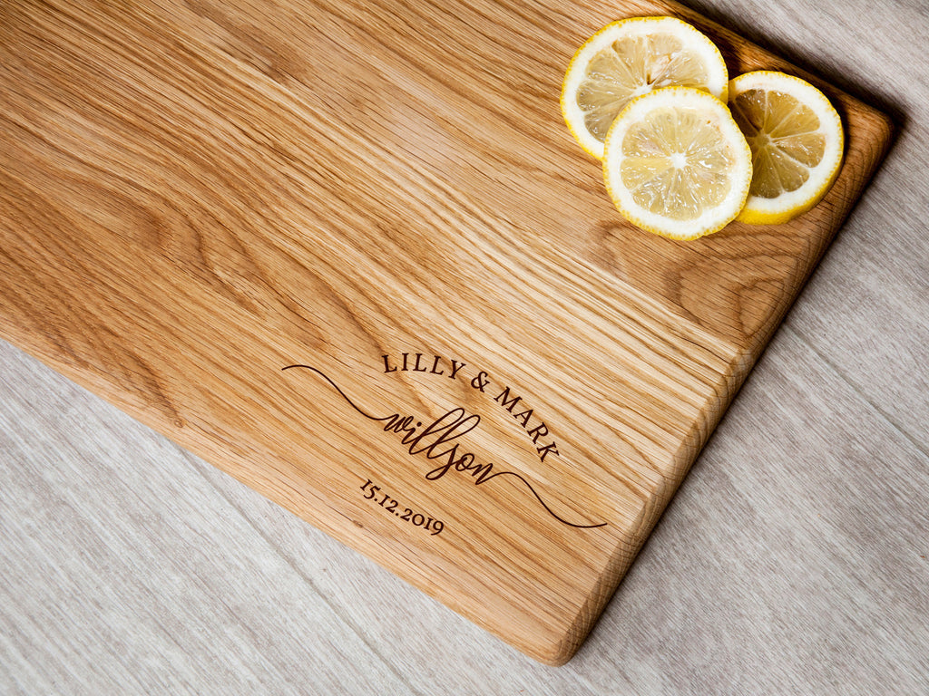 Engraved Cutting Board Christmas Gift Personalized Wedding Gift for Newlyweds Custom Chopping Board Engagement Gift Housewarming Gift Ideas