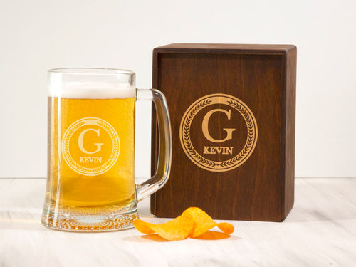 Gift for Husband Personalized Beer Mug Anniversary Gift for Him Engraved Beer Glass Gift for Boyfriend Beer Gift Ideas Husband Birthday Gift