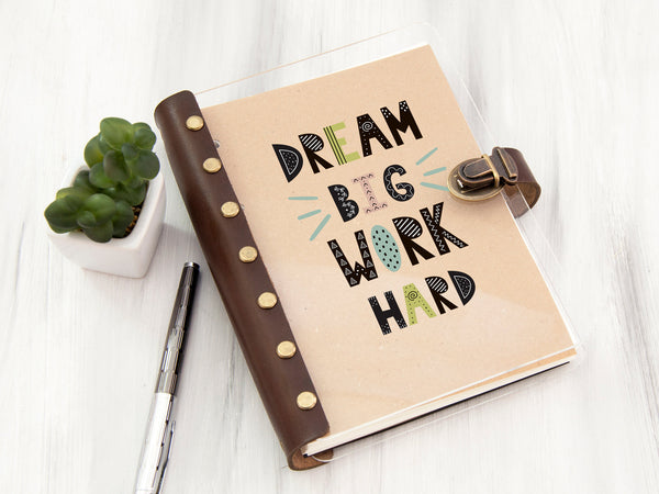 Monthly Planner Dream Big Work Hard Printable Planner 2020 Inspiration Journal Weekly Planner Christmas Gift Daily Planner Graduation Gift