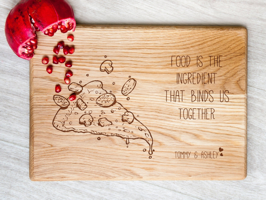 Wooden Cutting Board Personalized Kitchen Board Pizza Lover Serving Board Foodie Gift Engraved Chopping Board Housewarming Gift Custom Board
