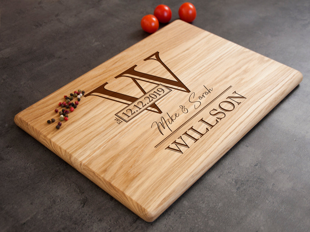 Personalized Cutting Board, Custom Cutting Board, Engraved Cutting Board, Wedding Gift for Couple, Housewarming Gift, Anniversary Gift