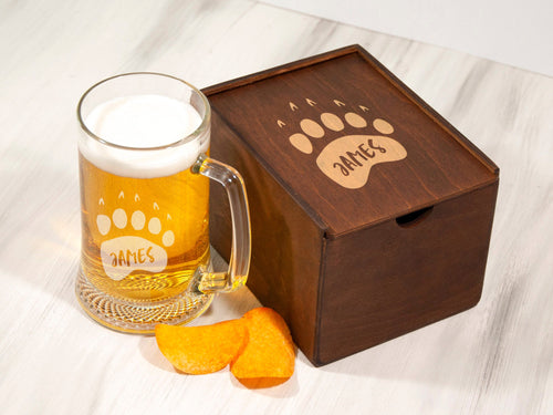 Adventure Beer Mug Gift Personalized Beer Gift for Him Best Man Gift Etched Groomsman Beer Glass Custom Beer Gift for Groom Beer Lover Gift