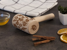 Load image into Gallery viewer, Nightmare Before Halloween Gift Rolling Pin Custom Engraved Roller Personalized Mother Gift Idea Birthday Gift for Mom Embossing Rolling Pin