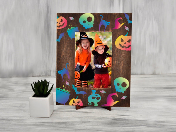 Funny Halloween Photo Frame Printable Frame Kids Room Decor 4x6 Picture Frame Home Decor Wood Frame Kids Halloween Gift Ideas Nursery Frame
