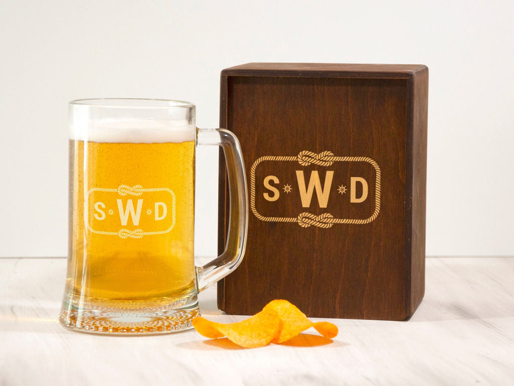 Personalized Beer Mug Retirement Gift Engraved Beer Mug optional Wooden Gift Box Coworker Gift Beer Glass Gift for Friend Boyfriend Gift